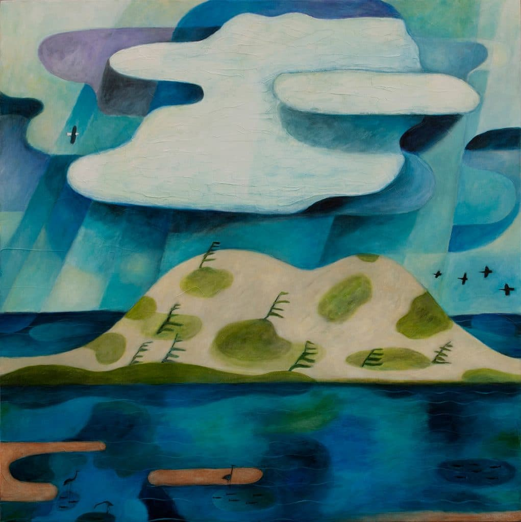 "Clouds Over Dune–Tracadie 36""x36"""